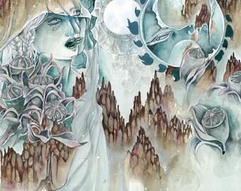 Stygian Moon - Faery / Fantasy Painting Art Print
