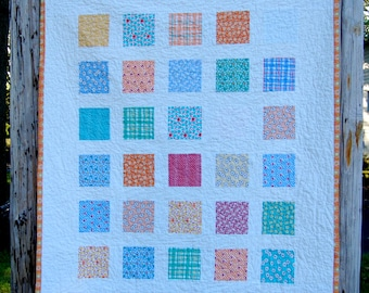 Canning Day Windowpanes Windowpanes Patchwork Baby Toddler Child Crib Quilt / Blanket - READY TO SHIP