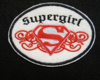Embroidered Supergirl Iron On Patch, Supergirl Patch. Supergirl,  Super Hero Patch, Super Hero