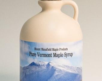 Mansfield Maple Half Gallon Pure Vermont Maple Syrup (Choice of Grade)