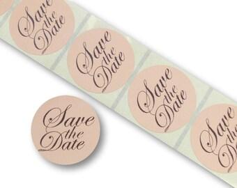 100 x 45mm round dave the date stickers labels brown kraft invitation seals