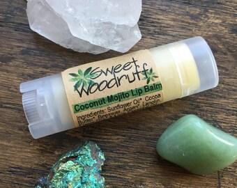 Organic Lip Balm, Coconut Mojito Lip Balm, Lip Balm, All Natural Lip Balm, Handmade Lip Balm, Mojito