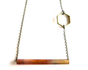 Copper and Brass Necklace