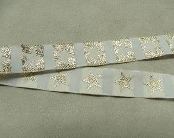 FANCY Ribbon - 1.5 cm-embroidered star