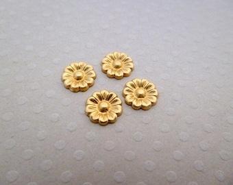 Set of 4 prints Fleur PM gold 9 mm - PMCD 0895