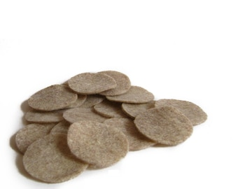 "50 pcs, 1.5"" Sandstone Felt Circles for Fascinator, Hair Clip, Brooch backs, appliques"