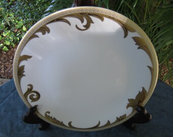 "Versace Dishes - Rosenthal Arabesque Gold 11"" Dinner Plate"