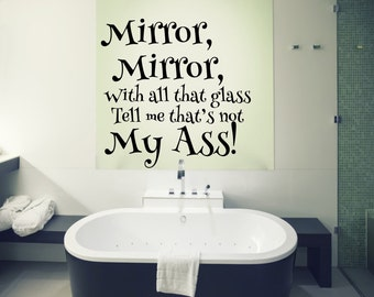 Mirror, Mirror On The Wall vinyl decal
