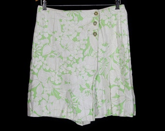 "10 Dollar Sale---Vintage 60's Floral Pattern Skort 30"" Waist"