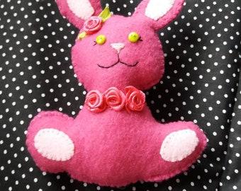 Felt pink bunny Rabbit
