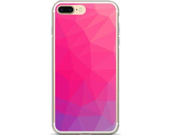 Geometric Phone Case Pretty Pink Purple Ombre Geometric iPhone 7 Case iPhone 6s Case Ombre iPhone 6 Case iPhone 7 Plus Case