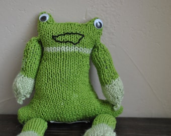 Handknit Froggy the Frog