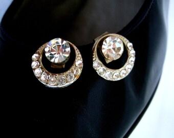 Chaussures de mariage strass Vintage Clips fleuri décoratif argent chaussures accessoires éblouissante de cadeaux de Noël pour ses cadeaux de moins de 25 ans