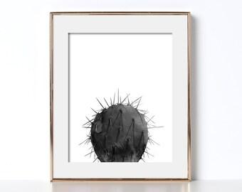 Desert Poster Desert Printable Digital Download Watercolor Cactus Art Black and White Cactus Art Modern Minimal Cactus Desert Cactus Prints