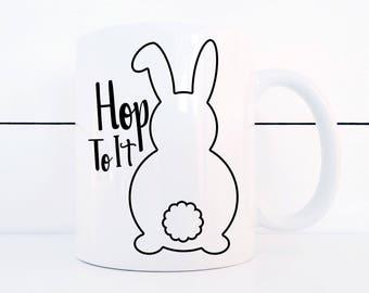 Easter Coffee Mug Bunny Butts Hop To It 11 Ounce Mug Easter Kitchen Decor