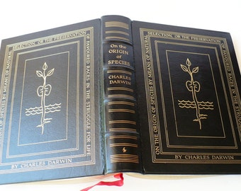 Book Collectible, Easton Press, Charles Darwin, On the Origin, of the Species, First Edition, Literature Fiction,