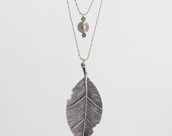 Signs of Spring Necklace (Leaf Necklace)