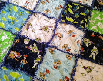CLEARANCE - Toy Story Rag Quilt -  Toddler/Child size - Ready to Ship
