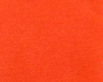 KNIT Fabric: Orange Cotton Lycra knit