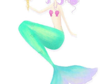Mermaid A5 Print