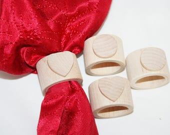 Rustic Wood Napkin Ring Holder,Heart Napkin Rings, Unfinished Wood Napkin Ring Holder, Rustic Napkin Rings, Table Settings, DIY Napkin Rings
