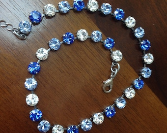 Perfect Blue Swarovski Crystal Necklace
