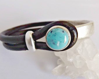 Turquoise bracelet, bracelet for women, turquoise jewelry, turquoise, boho bracelet, turquoise cuff, leather bracelet, women bracelet
