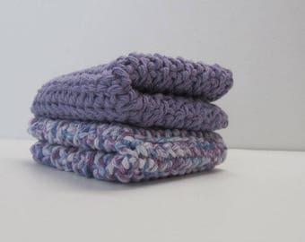 Cotton Washcloths set of 2 ~Ready to Ship~
