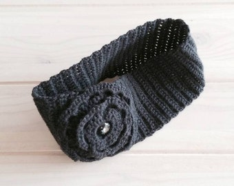 Cashmere wool ear warmer, knitted headband, cute headband, fall/winter accessories.