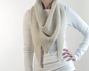 Knit Triangle Shawl Scarf Knitting Pattern - Grab N Go