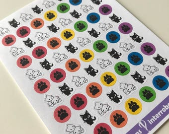 A80 - Cat - Planner Stickers