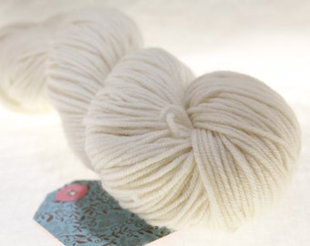 MADE to ORDER Choose Your Weight Hand Dyed Yarn - Snow Bank