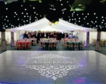 Wedding Decor, Dance Floor Decal, Wedding Floor Decal, Wedding Monogram Decal, Vinyl Floor Decal, Wedding Decoration - DFD0007