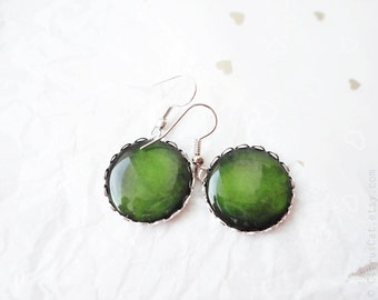 Moss green earrings - Spring Collection, Christmas green color, Patrick's day jewelry, Fashion jewelry