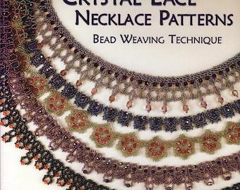Crystal lace necklace patterns/Beads loom/beading ebook/asahi/ondori/Christmas/beaded jewellery/beaded accessories/ondori/beaded jewellery