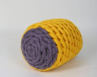 Pouf, Merino Wool Chunky Knit, Floor stool, Chunky Knit Ottoman, Knitted Pouf, Merino wool Floor Stool, Floor pillow, Home Decor