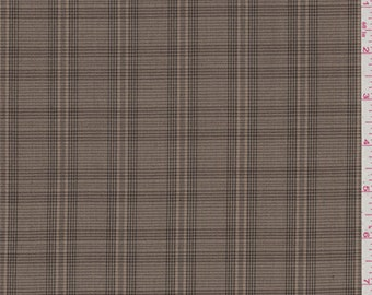 Caramel Brown Plaid Suiting, Fabric By The Yard