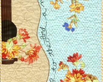 New Song Art Quilt pattern/guitar art quilt pattern/guitar pattern/music art quilt pattern