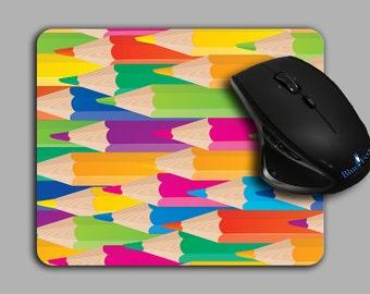 Artist Mouse Pad, Colored Pencil, Cloth top mousepad,MP-107