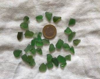 Frosted sea glass lot