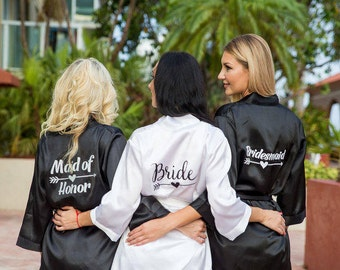 Bridesmaid Gift, Bridesmaid Robes Set, Bridal Party Gift, Bridesmaid Robe, Maid of Honor Robe, Bridal Party Robes, Bridesmaid Proposal