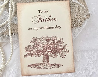 To my Father Card, Card for Father on Wedding Day Card, Card for Dad