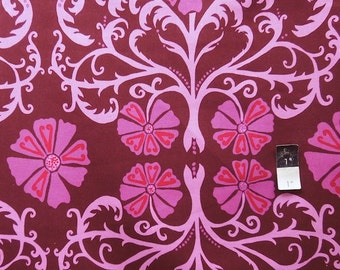 Valori Wells LVW03 Jenaveve Tribal Floral Merlot LINEN Fabric 1 Yd