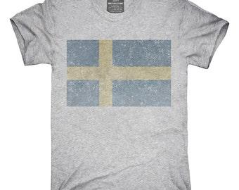 Retro Vintage Sweden Flag T-Shirt, Hoodie, Tank Top, Gifts