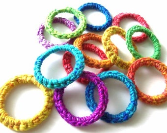 Cat and Ferret Toys, Recycled Rings Toy, Rainbow Colors, Gift for Cats and Ferrets