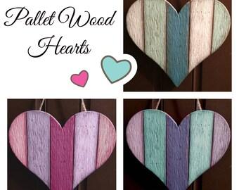 Pallet Wood Heart, Door Hanger, Wall Art, Valentine's Day Decor