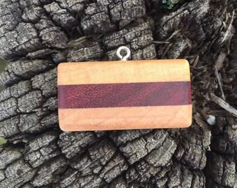 Maple and Purpleheart Pendant