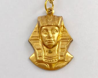 Egyptian Necklace, Egyptian, Necklace, Gold, Egypt Necklace, Egypt, Egyptian Jewelry, Gold Necklace, Statement Necklace, Handmade, Gift