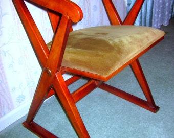 DREXEL HERITAGE vintage X chair Oak