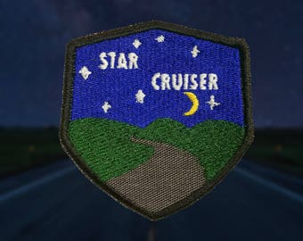 NEW! Star Cruiser Patch w/ glow in the dark stars and letters.